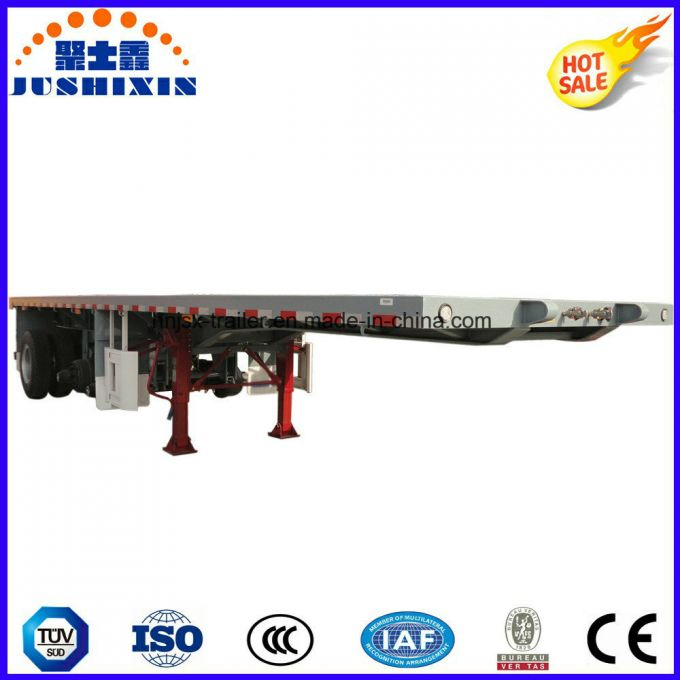 3 Axle Flatbed Transport Container Semi Trailer for Sale