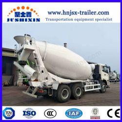 China Brand A7 6*4 371HP 10m3 Mixer Truck / Concrete Mixer Truck