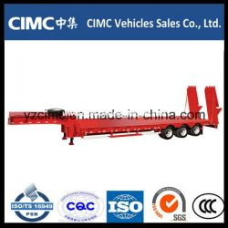 Cimc Low Bed Trailer with Hydrauli