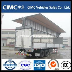 Cimc 2 Axle Enclosed Wing Open Van Trailer for Sale