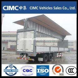 Cimc 2 Axle Enclosed Wing Open Van Trailer for Sale