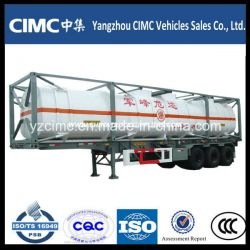 Cimc LNG Tank Container with Semi Trailer Chassis