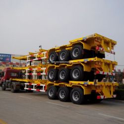 Chinese 3 Axle 40FT Gooseneck Skel