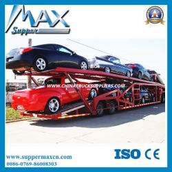 3 Axles Tractor Hydraulic Car Carrier Transporter Semi Trailer