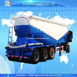 Dry Bulk Cement Transporting Trailer Cement Silo Semi Tanker Trailer