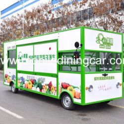 Hot Sale Fruit and Vegetable Selling Four Wheels Movable Truck