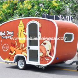 Factory Direct Beautiful Designed Food Trailer for Selling Hot Dogs