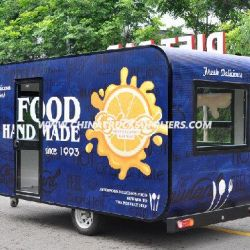 Customized Free Designed Mobile Food Cart on Promotion (CE)