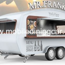 Mobile Catering Kiosk Street Food Truck with Kitchen Equipment for Sale