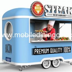Insulation Material Made Mobile Kitchen Trailers for Sale