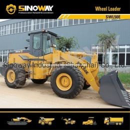 China Payloader, Wheel Loader with 215HP Cummins Engine for Earthmov