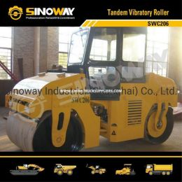 Sinoway 6 Ton Tandem Vibratory Road Roller for Road Construction