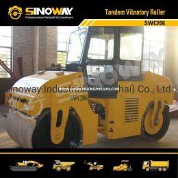Sinoway 6 Ton Tandem Vibratory Road Roller for Road Constructi