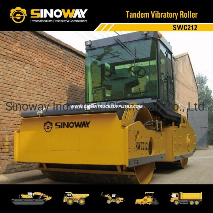 12 Ton Tandem Vibratory Road Roller with Cummins Engine (SWC212)