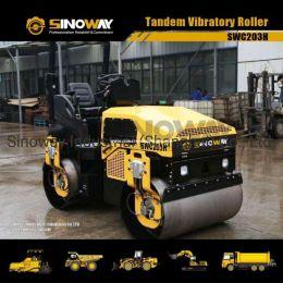 3 Ton Tandem Vibratory Roller/Double Drum Vibratory Road Rolle