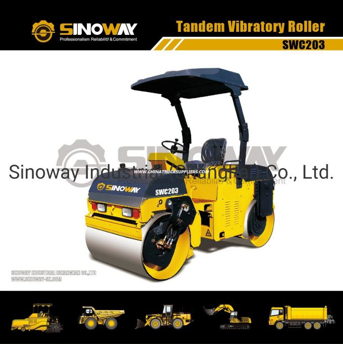 Double Drum Vibratory Roller (SWC203) Images 1