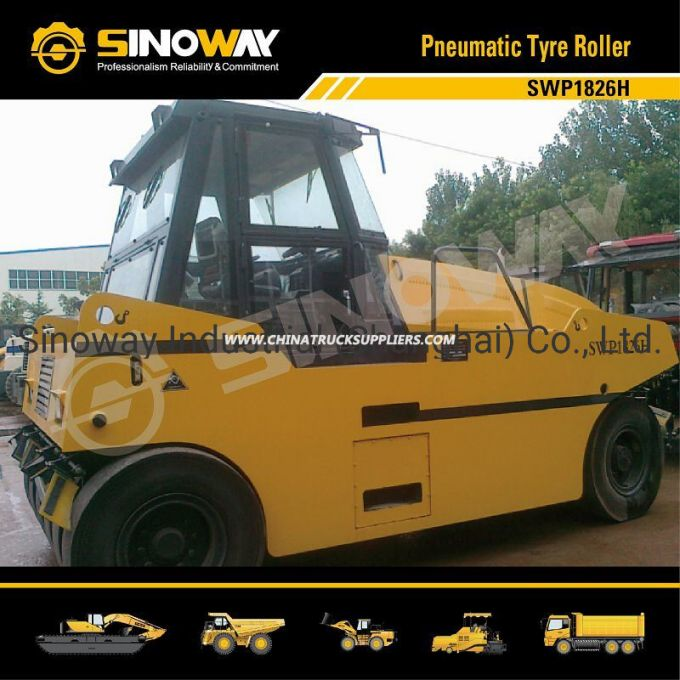 18t-26t Rubber Tire Roller / Hydraulic Pneumatic Tire Roller
