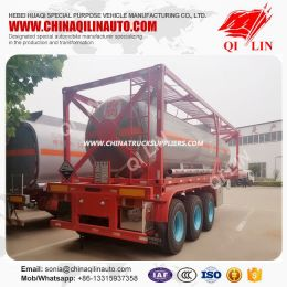 Tri-Axle Dangerous Liquid Transport Container Tank Semi Traile