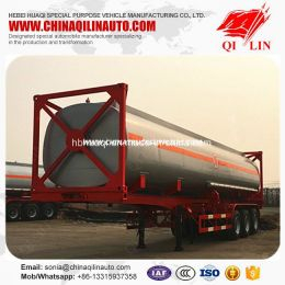 3 Axles 40FT Container Framework Tanker Semi Trailer