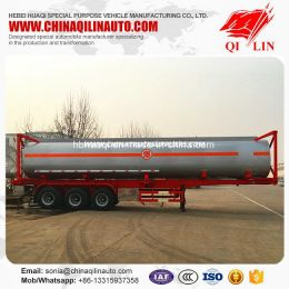 Capacity Optional 40FT Container Chemical Liquids Tanker Trail