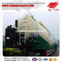 Qilin 50cbm Double Compartment Bulk Cement Powder Tanker Trailer for Cheaper Sale