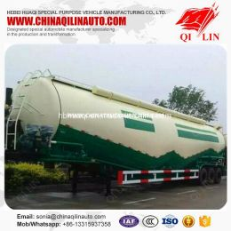 Qilin 55cbm Concrete Powder Tanker Semi Trailer for Cement Fac