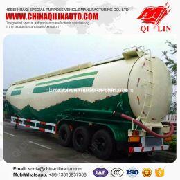 40FT 50cbm Carbon Steel Powder Particle Tanker Semi Trailer fo