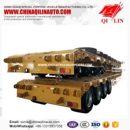 2019 New Hydraulic 4 Axles Low Flatbed Trailer for Sale