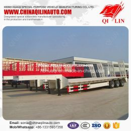 Heavy Duty Transport Low Loader Trailer with Gooseneck