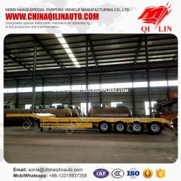 Excavator Transportation Low Bed Semi Trailer for East African Market