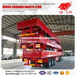 3 Axles 50 Tons Cargo Fence Trailer  with Detachable Wall