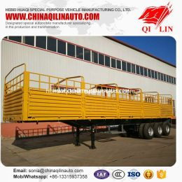4mm Thickness Plate Cargo Semi Trailer for Hot Sale
