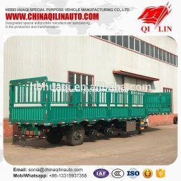 60 Ton Semitrailer Con Jaula Y Baranda Volcable Dropside Open