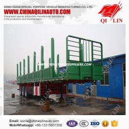 50 Ton Wood Carrier Utility Timber Trailer Tri-Axles Directa Sale Factory