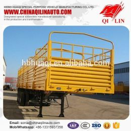 Tri -Axles Semitrailer Dropside Open Baranda Volcable De 50 Ton