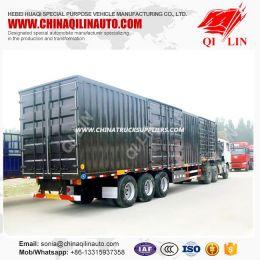 3 Axle Steel Van Cargo Semi Trailer