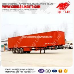 Tri Axles Step Wise Coal Transporting Box Type Truck Trailer