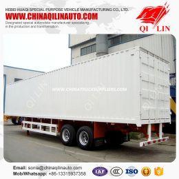 30tons Small Enclosed Box Cargo Transport Semi Truck Van Semit