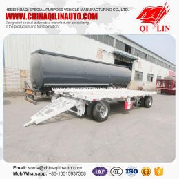 Full 2 Axles Flat Bed 20FT Container Transport Drawbar Trailer
