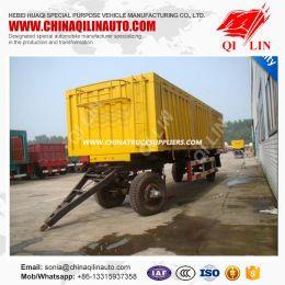 20FT Cargo Sidewall Detachable Truck Towing Full Drawbar Trailer