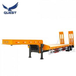 China 2 Axles 30 Tons 40t Low Bed Lowboy Semi Trailer