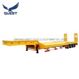 80tons Construction Machinery 4axles Low Bed Semi Trailer for Sale