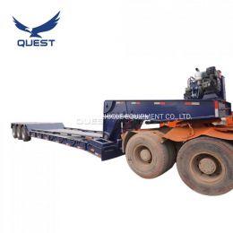 80ton Tri-Axle Detachable Hydraulic Goose Neck Lowboy Semi Tra