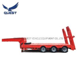Quest Excavator Transporter 60 Ton 3axle Gooseneck Lowbed Semi Trailer
