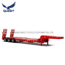 Tanzania 3 Axles 40-50tons Lowbed Semi Truck Trailer Low Bed