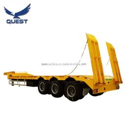 50ton 60ton Swan Neck Gooseneck Lowboy Low Bed Semi Trailer