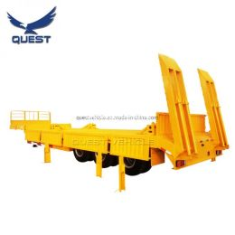 Quest 60ton Tri-Axle Heavy Duty Low Bed Truck Semi Trailer