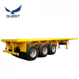 Quest 20FT 40FT Flat Bed Container Flatbed Semi Trailer