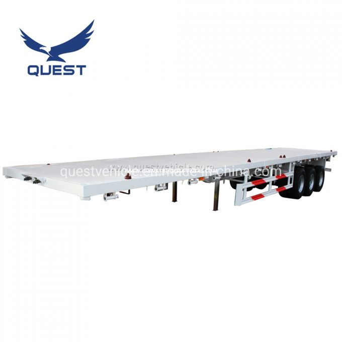 Quest 3 Axle 40FT Container Flatbed Cargo Tansport Semi Trailer