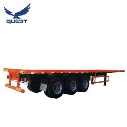 40FT 50tons Container Transport Semi Truck Head Towing Flatbed Trailer